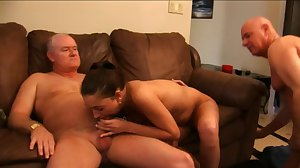 Beauty and two old cocks